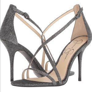 NWT Jessica Simpson Annalesse Heels in Silver